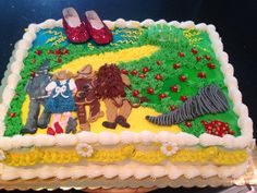 Baby girl wizard of oz shower cake, love red bling shoes