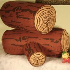 Log pillows for playing on the floor in Totoro's forest!
