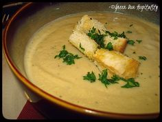 Elegant and Affordable:  Roasted Cauliflower Soup with Tarragon