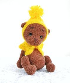 Crochet teddy bear toy Personalized stuffed teddy bear for baby Crochet teddy in overalls Crochet teddy bear baby shower Crochet bear outfit #crochetgiraffe #stuffedgiraffe #amigurumianimals #zooanimals #babyshowergift #babyroomdecor #giraffenursery #safarinurserydecor #organicbabytoy #ecobabytoys #cutegiraffe #toyfornewborn #firsttoy Teddy Bear Patterns Free, Crochet Teddy Bear Pattern, Crochet Bear, Crochet Toys, Teddy Bear Toys, Cute Teddy Bears, Bear Blanket, Newborn Toys, Plush