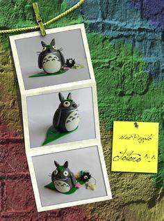 Idee regalo: copia Totoro ^-^ (realizzato a mano). Materiale: pasta polimerica.