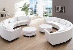 get classy look inside your living room by having italian curved leather sofa - Living Room Sets Modern