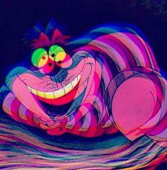 Alice in Wonderland 1951 - Cheshire Cat. Alice In Wonderland Aesthetic, Adventures In Wonderland, Wonderland Alice, Image Psychedelic, Art Hippie, Trippy Pictures, Chesire Cat, Cheshire Cat Art, Trippy Painting