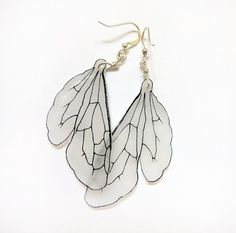 Bumblebee wing dangle earrings. $17.00, via Etsy.