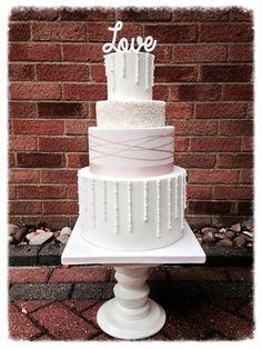 Contemporary Love Wedding Cake - Cookie Delicious