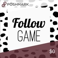 💋 Follow Game Hello Poshers!   My newest goal is to hit 60K by Valentine's Day! ❤️  Increase your followers alongside me by:       1. Following me,       2. Liking this listing,       3. Sharing this listing,       4. Following everyone who likes this post.   It's easy! Let's do this! 💋  As of 1/10/17 I need 6,000 followers to meet my goal. Tops