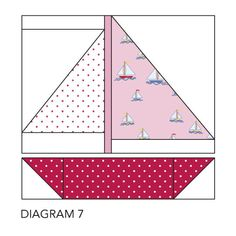Make your own boat lift, sailboat quilt block pattern free, model boat kits wood uk Quilt Baby, Nautical Baby Quilt, Baby Quilt Patterns, Paper Piecing Patterns, Nautical Theme, Sailboat Baby Quilt, Vintage Nautical, Pirate Quilt, Quilt Inspiration
