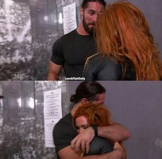 Seth Rollins and Becky Lynch after Seth loses against Brock(? Wwe Seth Rollins, Seth Freakin Rollins, Becky Lynch, Wrestling Stars, Wrestling Divas, Women's Wrestling, Becky Wwe, Wwe Couples, Wwe Pictures