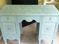 Wedding Cake table painted with Annie Sloan chalk paint.