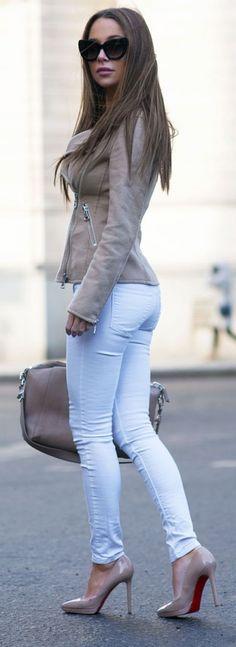 #street #style / suede jacket
