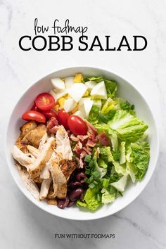 If you're looking for a filling salad that's also FODMAP-friendly, this cobb. Cobb Salad, Salad Recipes, Diet Recipes, Supper Recipes, Egg And Grapefruit Diet, Egg Diet Plan, Vinaigrette, Fodmap Recipes, Fodmap Foods
