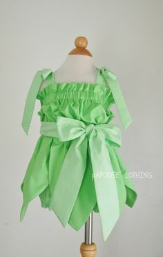 Tinkerbell Fairy Inspired Toddler Green Dress by papooseclothing, $70.00