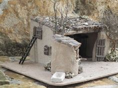Nativity Crafts, Christmas Nativity, Christmas Deco, Doll House Plans, Medieval Houses, Wooden Buildings, Clay Houses, Wargaming Terrain, Modelos 3d