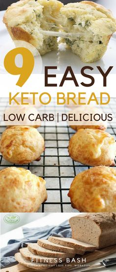 Keto Bread Recipes: Some easy keto bread recipes which are quick and low carb.