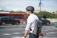 Closca Fuga, a stylish, foldable bike helmet that can easily be stored in your bag or backpack. Also, its minimalist look is sleek and streamlined so it doesn't kill your look. Despite all these changes, the helmet still puts safely first so there's no need to worry about your noggin (it's safety certified in both the US and EU).