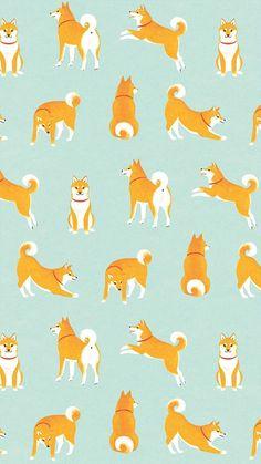 柴犬がいっぱいiPhone壁紙 Wallpaper Backgrounds