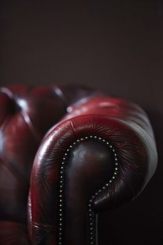 A Chesterfield leather sofa.