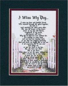 A Dogs Goodbye Poem   my dog female touching 8x10 poem the verse addresses loss of your dog ...