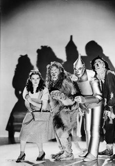 """Classic photo of the """"Wizard of Oz"""" foursome."""