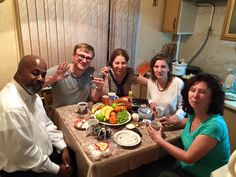Having last meal together in Moscow before heading out to Rostov 9/2/15
