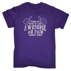 123t USA Men's This Is What An Awesome Au Pair Looks Like Funny T-Shirt