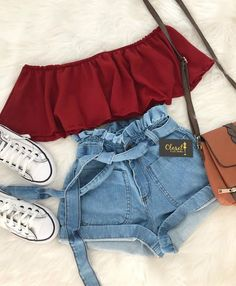 Hot trends🔥 Simple;but simply cute T r y T h i s waisted - Kleidung - Summer Dress Outfits Teen Fashion Outfits, Cute Casual Outfits, Mode Outfits, Cute Summer Outfits, Cute Fashion, Look Fashion, Pretty Outfits, Stylish Outfits, Girl Fashion