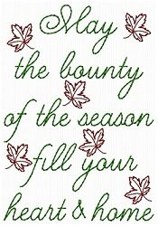 Bounty of Season Sampler - 5x7   Fall   Machine Embroidery Designs   SWAKembroidery.com HeartStrings Embroidery