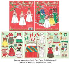 Dolly Dingle Christmas Paper Doll  Valentines