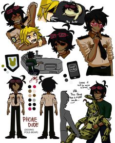 Phone dude FNAF4 - Design by Pole-Bear, Made by Wolf con F