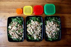 1 can tuna, ½ cup white beans with quick chimichurri sauce over arugula = 1 red, 1 green, 1 yellow, 1 orange