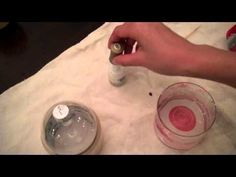 Video: Candy Cane Marbled Ornaments