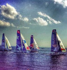 New day at the Extreme Sailing Series - Istanbul