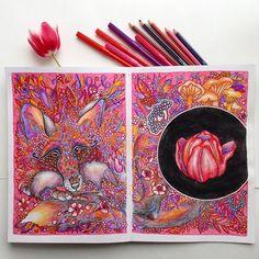Instagram media olyahitrayapanda - Fox ☺️ My coloring book #ветеруноситцветы  olyagoloveshkina.jimdo.com/book  youtu.be/tZbRqYneFag  #coloring #coloringbook #fox #cute #doodle #zentangle #beautifulcoloring #artecomoterapia #art #mifbooks #coloringforadults #coloringmasterpiece #coloringtherapy #coloringart #раскраска #раскраскадлявзрослых #раскраскаантистресс #art_we_inspire #миф_раскраски