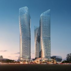 Dancing Towers by Studio Daniel Libeskind, Seoul, South Korea