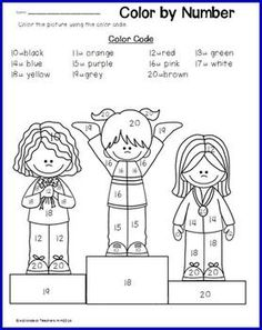 COLOR BY TEEN NUMBERS- WINTER SPORTS - TeachersPayTeachers.com