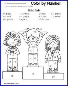 COLOR BY TEEN NUMBERS- WINTER SPORTS - TeachersPayTeachers.com