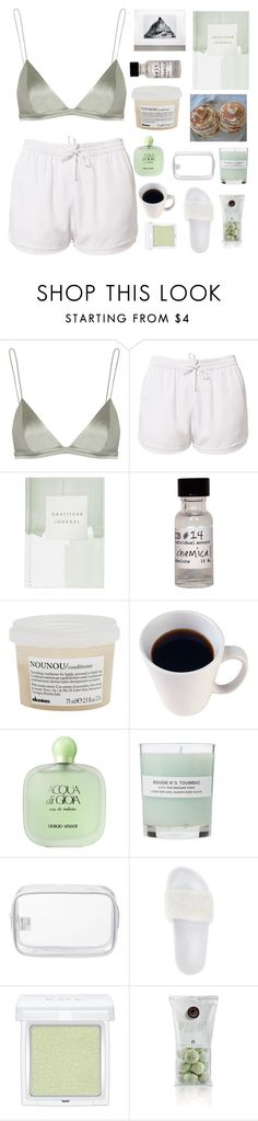 """""""Untitled #2772"""" by tacoxcat ❤ liked on Polyvore featuring T By Alexander Wang, Estradeur, Thrive, CB I Hate Perfume, Davines, Giorgio Armani, A.P.C., John Lewis, Puma and RMK"""