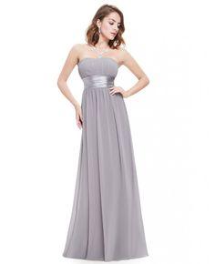 Empire Strapless Chiffon Floor-length Bridesmaid Dress With Ruffles
