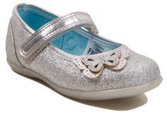 George Disney Frozen Glitter Effect Shoes - Silver