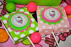 Party Favor Ballerina Hello Kitty Lollipop by ThePolkaDotParty, $12.00