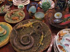 Palissy Snake & Lizard Platters.
