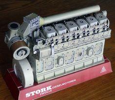 Marine Engineering, Paper Models, Diesel Engine, Atlantis, Scale Models, Trains, Ships, Cars, History