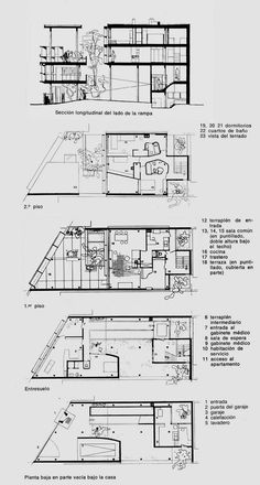 LA PLATA - Casa Curuchet · Arq. Le Corbusier - planos plantas | por Adrián Mallol i Moretti (AMiM)