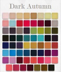 Цветотип темная осень и цвета палитры