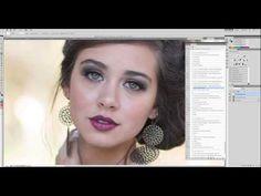 Digital Retouching Using Photoshop Actions - YouTube
