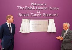 Ralph Lauren said it was 'wonderful' to see the centre open following his donation to the hospital