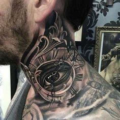 neck tattoo man