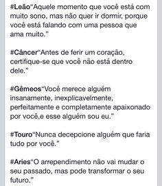 Signos -Leão, câncer, gêmeos, touro e Aries