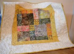 Quilted Table Topper Quilted Table Runner by SharleesQuiltCottage