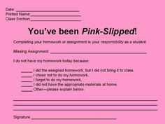 You've been pink slipped!